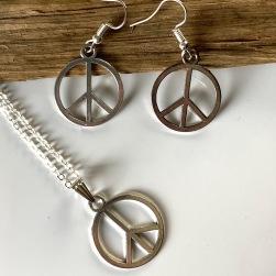 Peace Halsband & Örhängen set