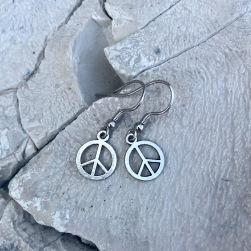 Peace Örhängen små hängande