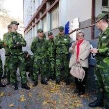 Foto: Charlotte Pettersson MHS-H SOU elever under fältövning i Bosnien