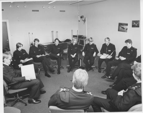 Avdelning under UGL utbildning 1981 (Utbildning, Grupp Lärande) under mitt, Hans Hansson, och Ronald Alveheims handledarskap