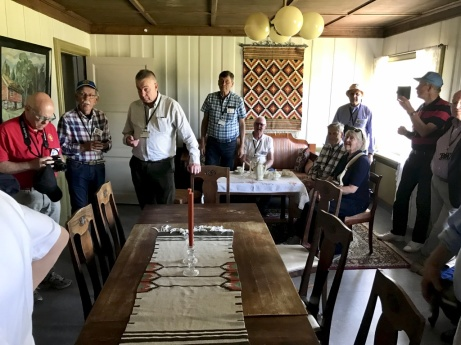 Rummet där kungen mötte den tyska delegationschefen och Kungens Nei blev tydligt för tyskarna. Norge var i krig med Tyskland