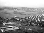 Civila fältet fotat från söder med Skeppargatan framför husen i nedre delen av bilden