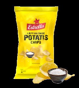 Estrella Potatischips Lättsaltade 175g -