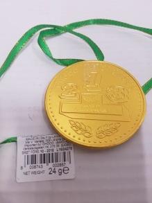 Choklad Guld Medaljong 23g -