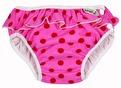 Badbyxa för babysim - Pink Dots - med söt volang