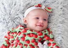Babyklänning med matchande hårband