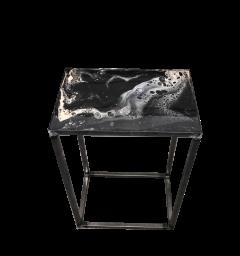 Sängbord - Sängbord 70x45x30 svart/vit