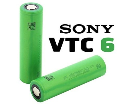 Sony VTC 6 - 18650 Lithium Batteri3000 mah 15 - 30A