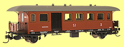 OKB person/-resgodsvagn SJ litt CF3/4