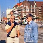 Folke och Bertil i Malmö hamn.