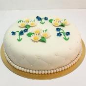Födelsedagstårta blommor