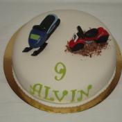 Alvin 9år, Skoter och cross