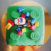 Legotårta med monstertruck