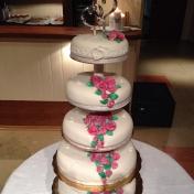 Bröllopstårta 5 våningar