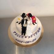 Bröllopstårta 2våningar, skoter