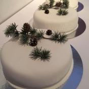 Bröllopstårta enkeltårtor x4