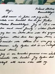 Hur skriver man ett personligt brev, personligt brev barnvakt Stockholm
