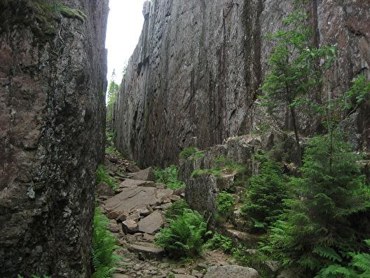 Slåttdalsskrevan i Skuleskogen