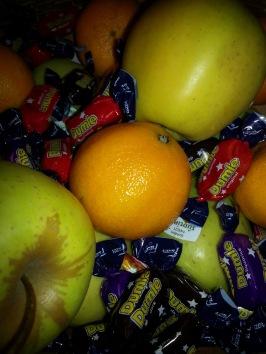 Frukt och godis på utbildning