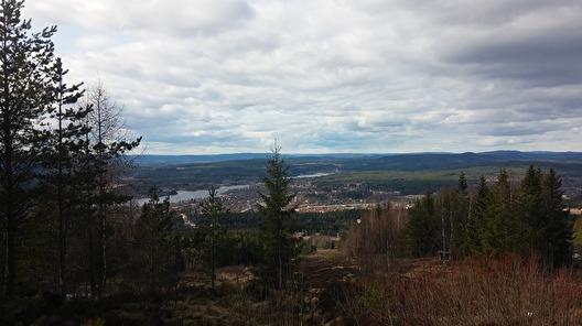 Uitzicht over Hagfors vanaf de Utsikstornet