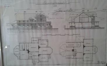 Ritning (visas i husets gästlounge på första våning)