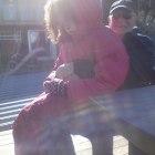 Juliette med morfar :)