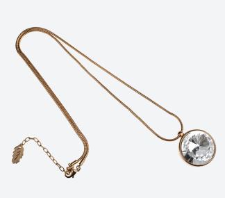 HALSBAND THE ZEN AMULET Guld/Klar 75cm - HALSBAND THE ZEN AMULET Guld/Klar 75cm