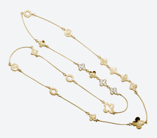 HALSBAND THE FOUR CLOVER ICONIC Guld/Klar - HALSBAND THE FOUR CLOVER ICONIC Guld/Klar