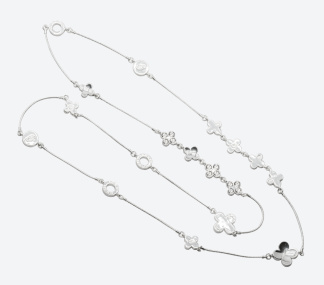 HALSBAND THE FOUR CLOVER ICONIC Silver/Klar - HALSBAND THE FOUR CLOVER ICONIC Silver/Klar