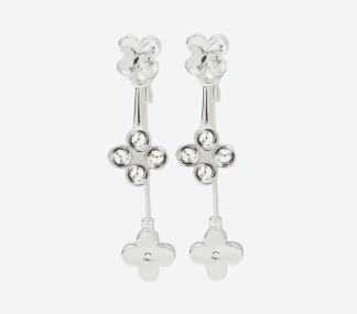 ÖRHÄNGEN THE FOUR CLOVER EARRINGS Silver/Klar - ÖRHÄNGEN THE FOUR CLOVER EARRINGS Silver/Klar