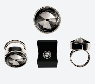 RING THE ZEN RING Silver/Rökfärgad - RING THE ZEN RING Silver/Rökfärgad