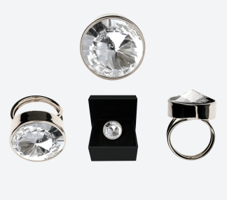 RING THE ZEN RING Silver/Klar - RING THE ZEN RING Silver/Klar