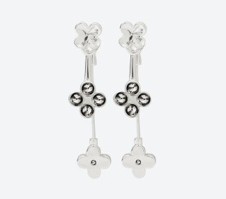 ÖRHÄNGEN THE FOUR CLOVER EARRINGS Silver/Rökfärgad - ÖRHÄNGEN THE FOUR CLOVER EARRINGS Silver/Rökfärgad