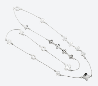 HALSBAND THE FOUR CLOVER ICONIC Silver/Rökfärgad - HALSBAND THE FOUR CLOVER ICONIC Silver/Rökfärgad