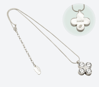 HALSBAND THE FOUR CLOVER AMULET 45 Silver/Klar - HALSBAND THE FOUR CLOVER AMULET 45 Silver/Klar