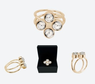 RING THE FOUR CLOVER RING Guld/Klar - RING THE FOUR CLOVER RING Guld/Klar