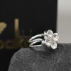 RING THE FOUR CLOVER RING Silver/Klar