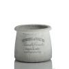 KRUKA SOFIA Cement med grå text - KRUKA SOFIA Cement med grå text