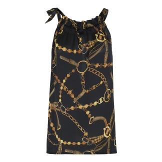 KARMAMIA Black Vintage Ruffle Tie Top - Karmamia Black Vintage Ruffle Tie Top