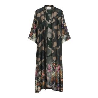 KARMAMIA Flower Camouflage Kimono LONG - Flower Camouflage Kimono LONG