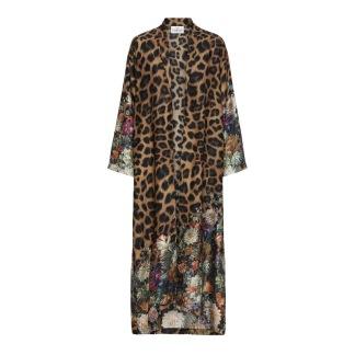 KARMAMIA Flower Leopard Kimono LONG - Flower Leopard Kimono LONG