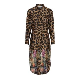 KARMAMIA Harper Dress Flower Leopard - Harper Dress Flower Leopard / S