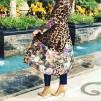 KARMAMIA Flower Leopard Kimono LONG