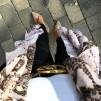 KARMAMIA Snake Ruffle Kimono