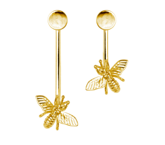 ÖRHÄNGEN INSECT EARRINGS GOLD - INSECT EARRINGS GOLD