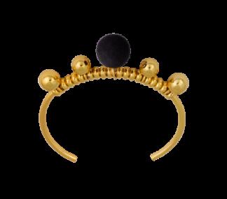IOAKU  ARMBANT VELVET CUFF GOLD/ BLACK - VELVET CUFF GOLD/BLACK
