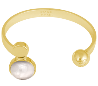 IOAKU  ARMBAND MOON CUFF GOLD/CLOUD - Armband Moon Cuff