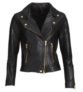FRONTROW Bikery jacket black/gold - Bikery jacket / 34
