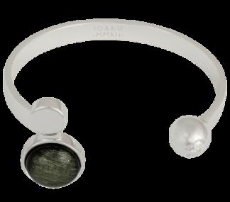 IOAKU  ARMBAND MOON CUFF SILVER/SPARKLE GREY IOAKU - Armband Moon Cuff
