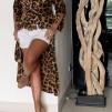 KARMAMIA Leopard Ruffle Kimono